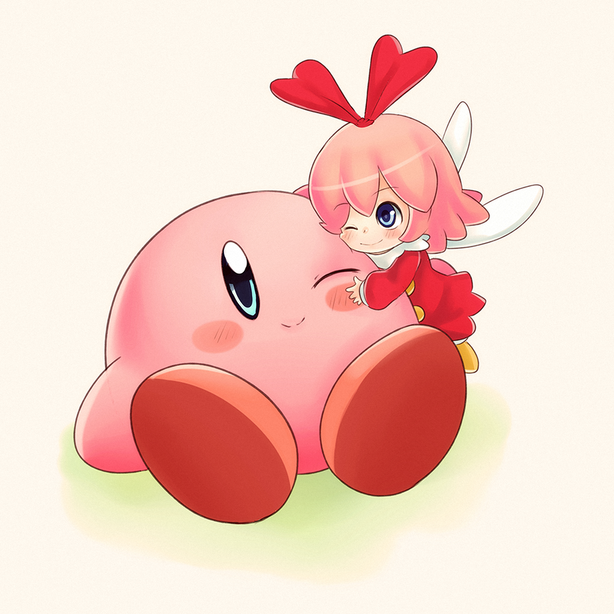 Kirby and Ribbon again by CheloStracks