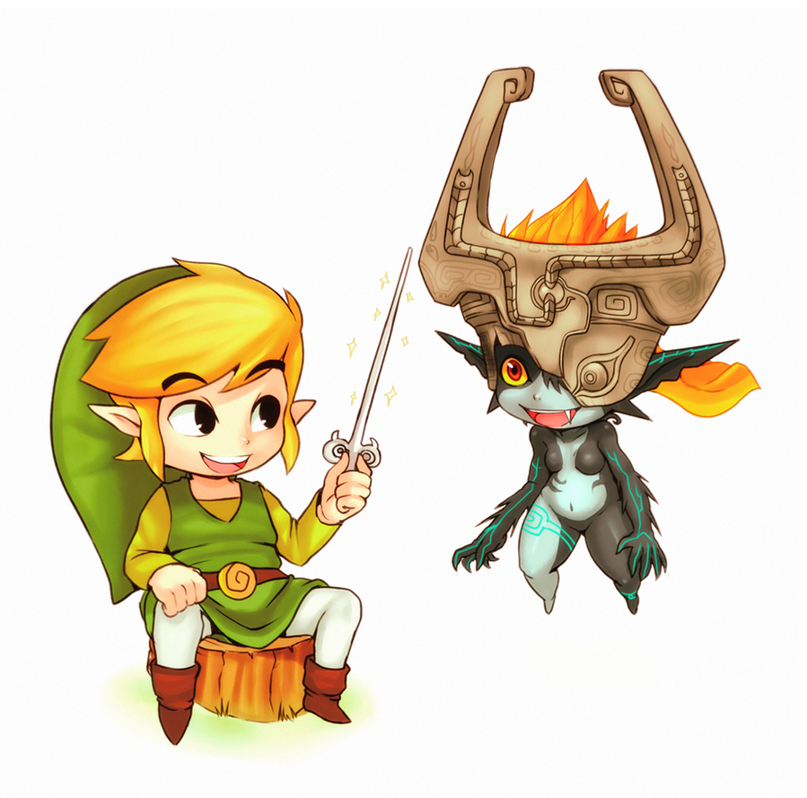 Toon Link and Midna by CheloStracks