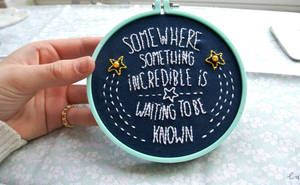 First ever embroidery hoop!