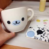 hand painted mamegoma mug