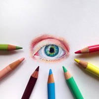 little eye drawing