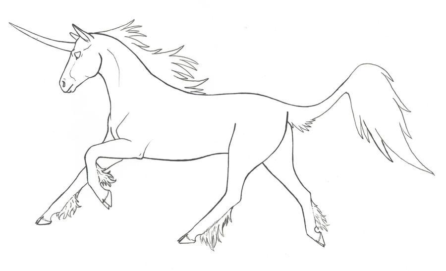 Line Art Unicorn : Free unicorn lineart by kitvor on deviantart