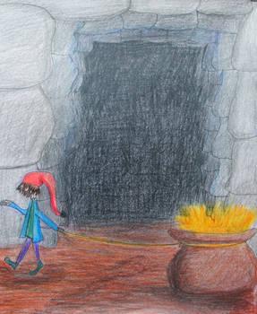 dwarf and his treasure
