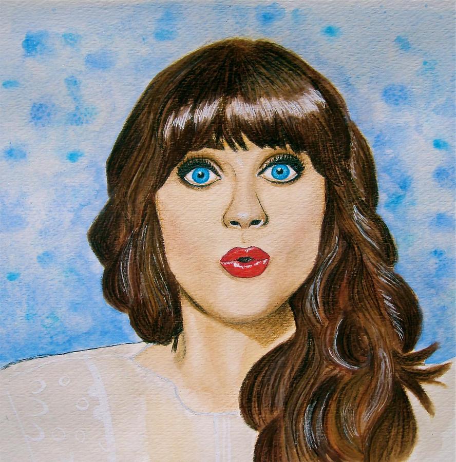 Zooey Deschanel by Trista-Willows