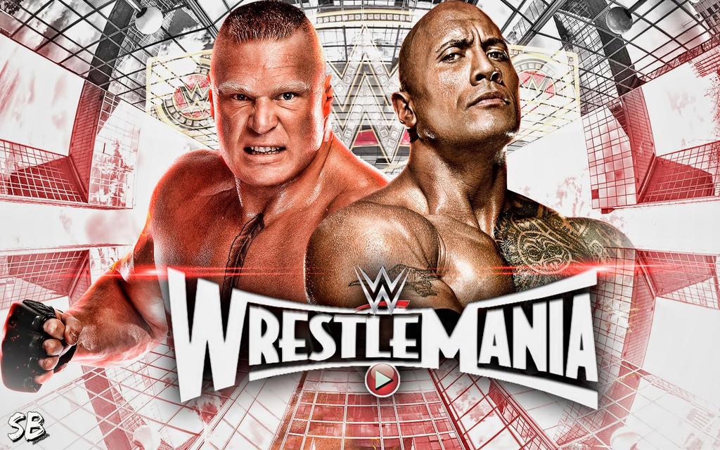 Brock Lesnar Vs The Rock Wrestlemania 31 By Sebaz316