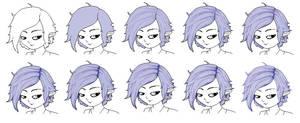 MS Paint hair shading tutorial