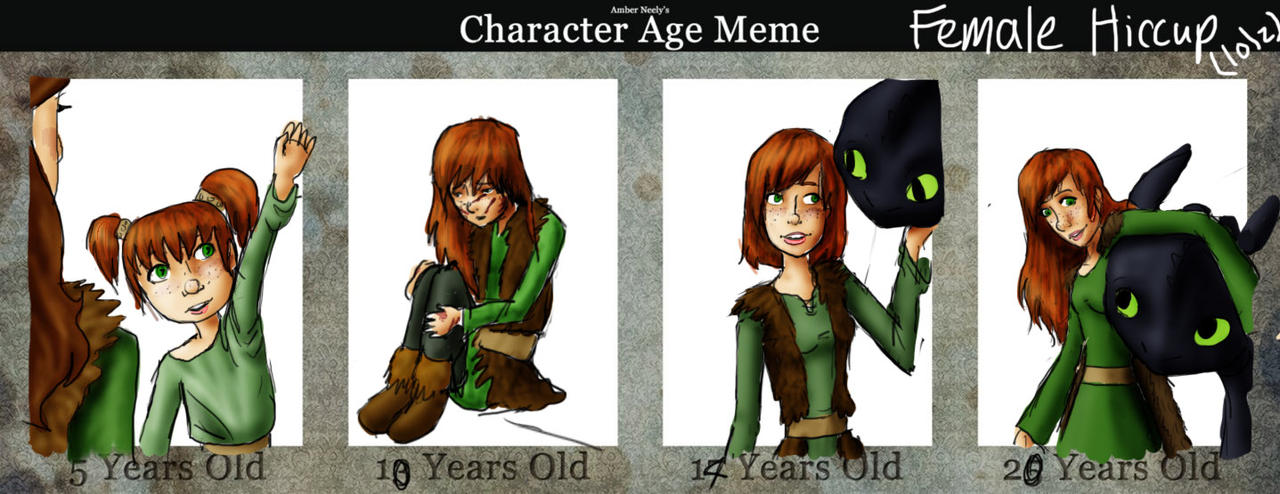Age Meme - Girl Hiccup by silkenstarrs