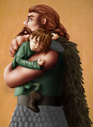 HTTYD - Father - in color by silkenstarrs