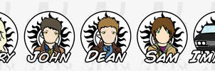 SPN Stickers: The Winchesters