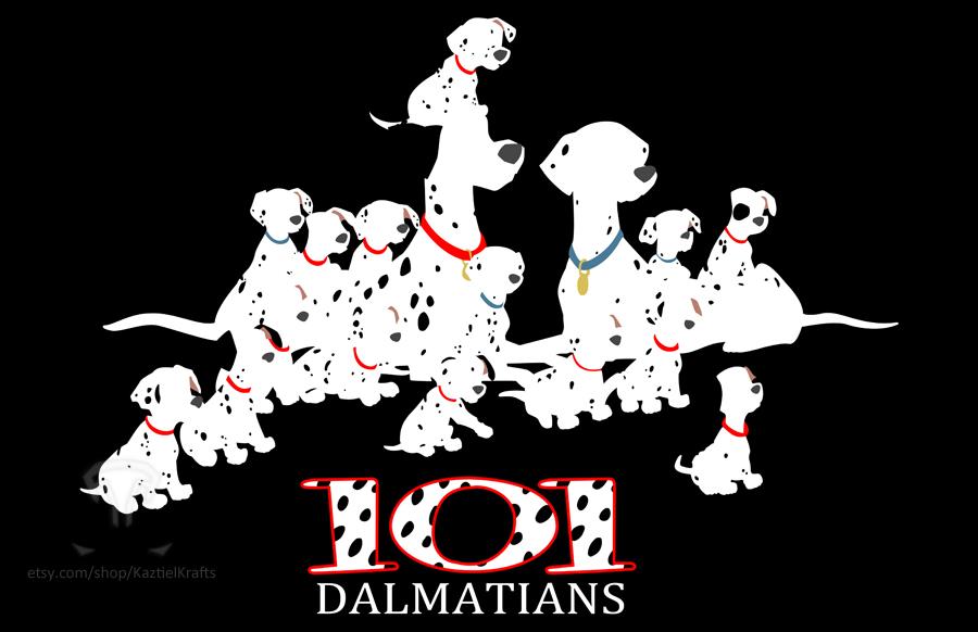 Minimalist Commission: 101 Dalmatians by kaztielkrafts