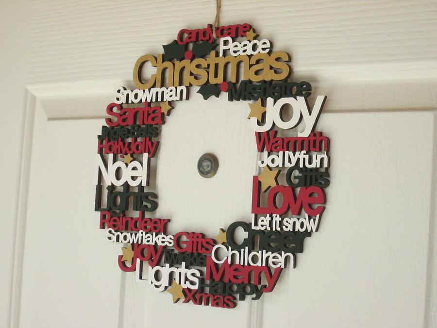 Christmas Word Wreath by kaztielkrafts