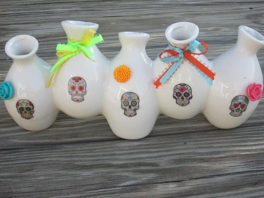 Day of the Dead Vase by kaztielkrafts