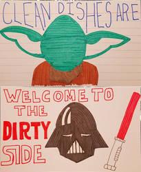 Star Wars Dishwasher Sign