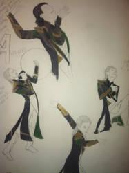 Loki costume scrap by Sierraness23