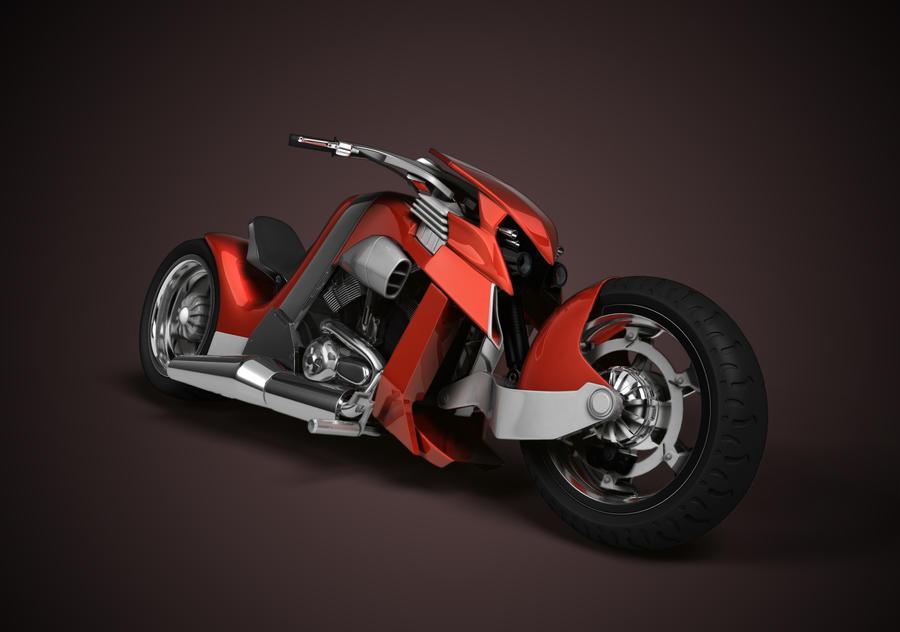 Custom 3D Harley VROD by artistsvalley