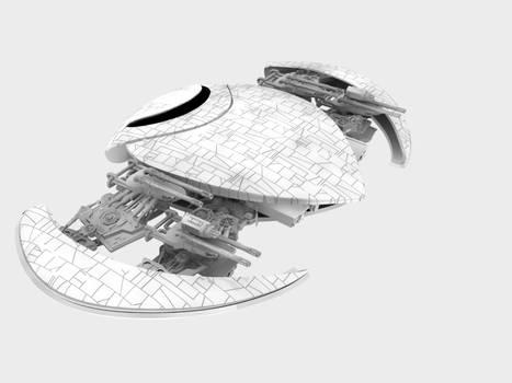 Custom 3D Alien space ship