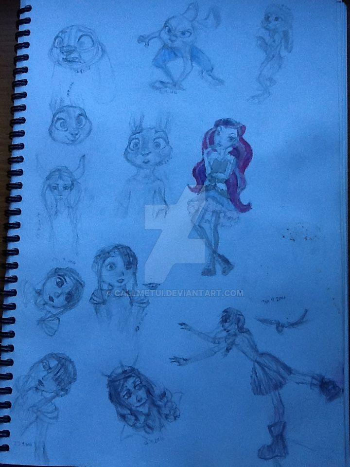 disney/dreamworks drawing 02 by callmetui