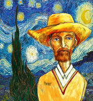 vincent van gogh a day with a starry night