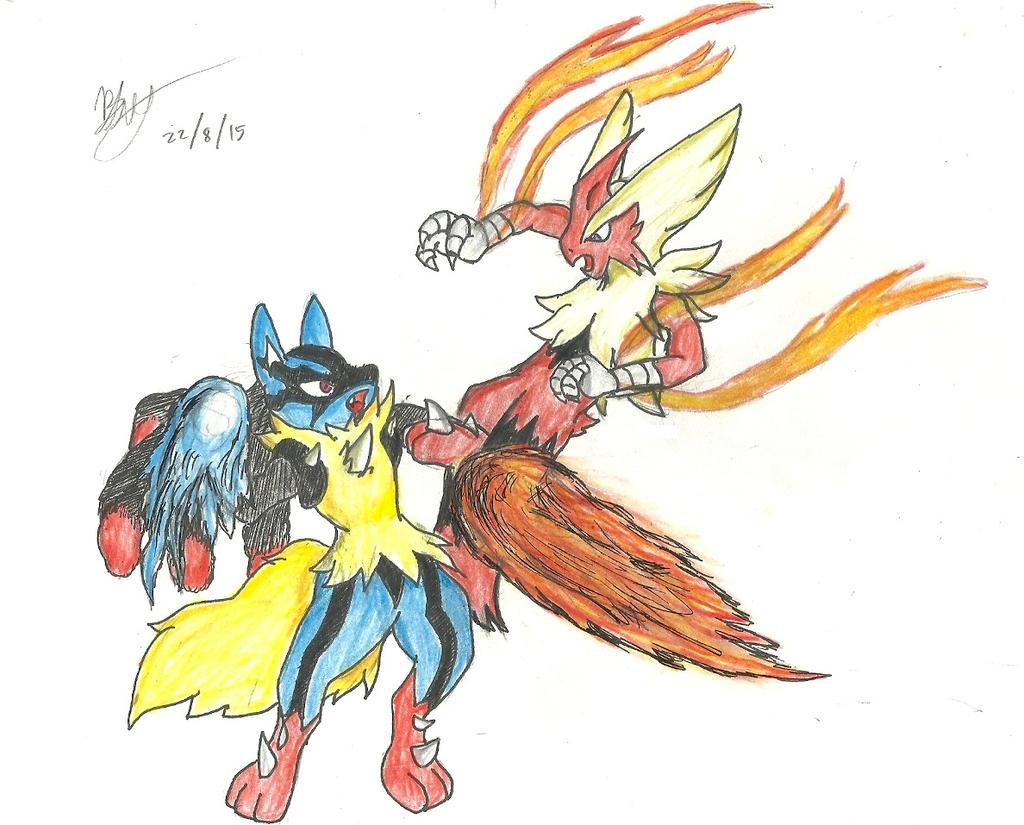 Mega Blaziken vs Mega Lucario by BluetheWartortle on ...