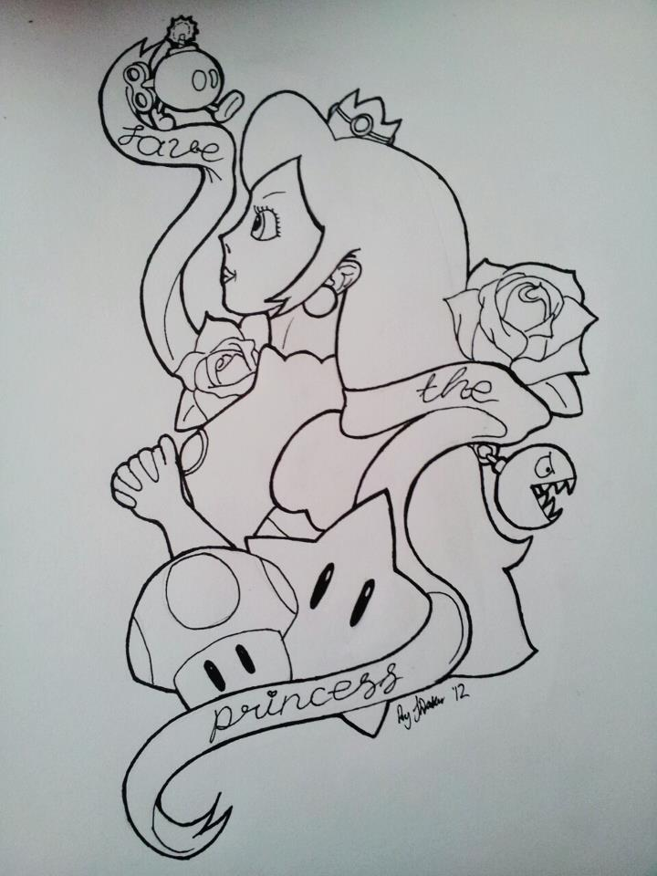 My Save The Princess Tattoo Design By Jade Maggot On
