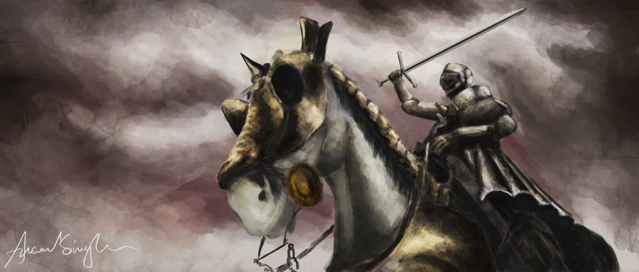 Knight on Horse by Anand108 on DeviantArt