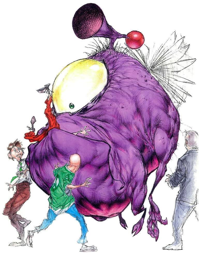 One-Eyed, One-Horned, Flying Purple People-Eater. by AngelMedinaArt