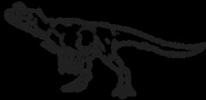 F2U- Cryolophosaurus (Feathered) Lineart