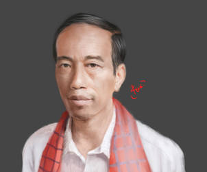 Jokowi Potrait by RuinuShiro