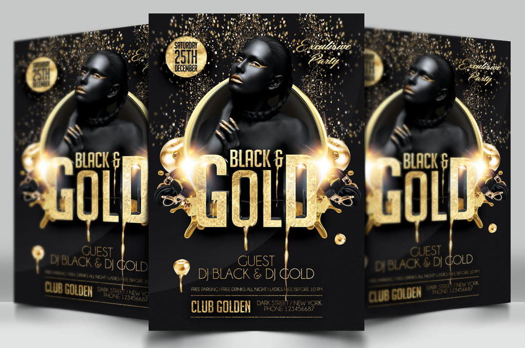 Black and Gold Party Flyer by DarkMonarch on DeviantArt