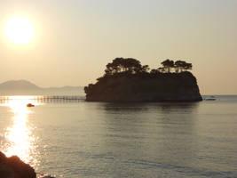 The island by sunrise by kikielzinga