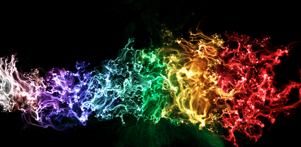 rainbow fire background - photo #16