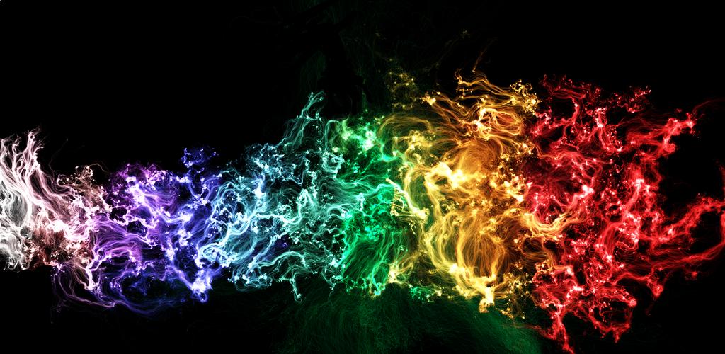Rainbow flames by kikielzinga on DeviantArt
