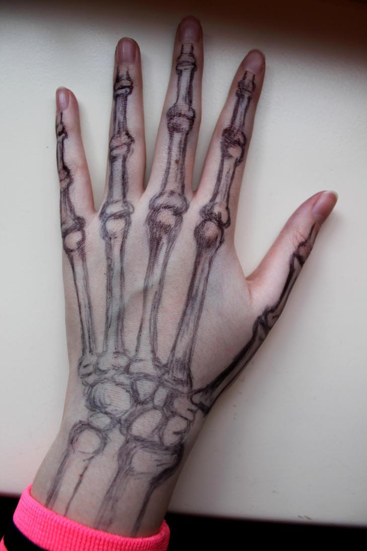 Skeleton hand by kikielzinga on DeviantArt