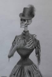 Victorian skeleton by kikielzinga