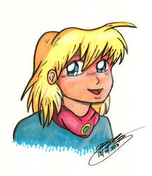Ella done in Dollar Store Markers by JimmyDrawsArt
