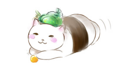 Sushi Cat by Mvlk