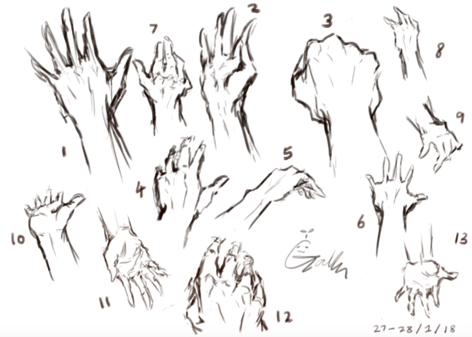 Hand practice by Mvlk