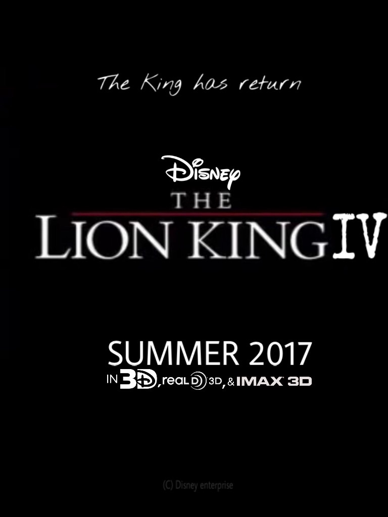 the lion king 4  offical movie  poster leaked by