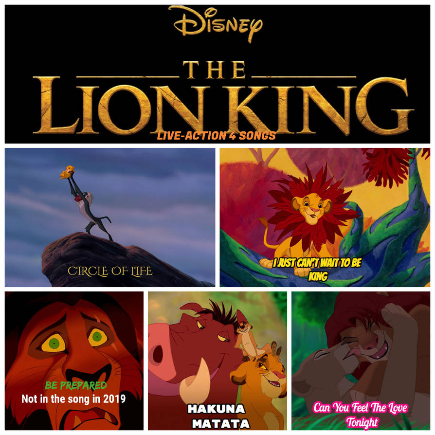 The Lion King 2019 Songs By Hakunamatata15 On Deviantart