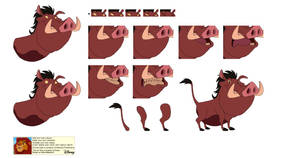 Character Builder - Pumbaa TLK3 Color Version