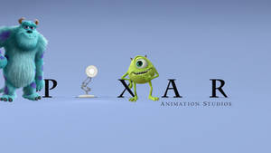 Pixar Animation Studios logo with Mike and Sulley