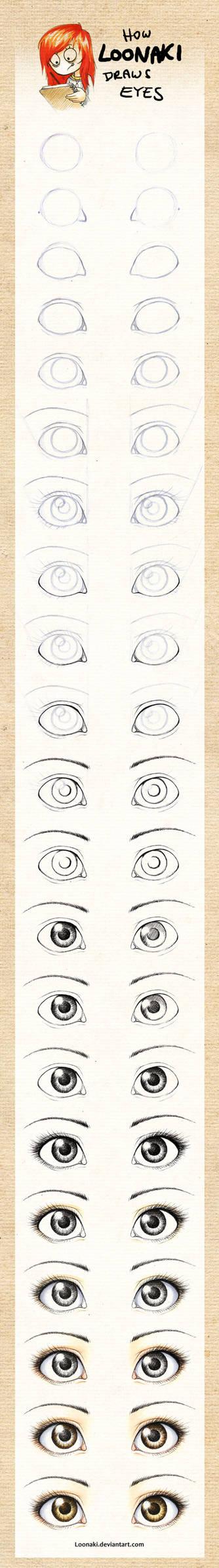 How Loonaki Draws Eyes