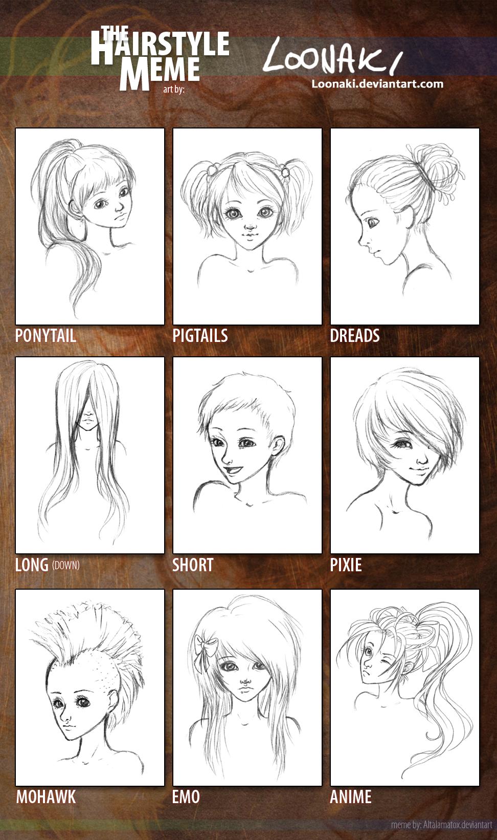 Hairstyle Meme By Loonaki Hairstyle Meme By Loonaki