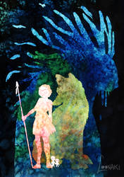 Princess Mononoke - Ghibli Series XI by Loonaki