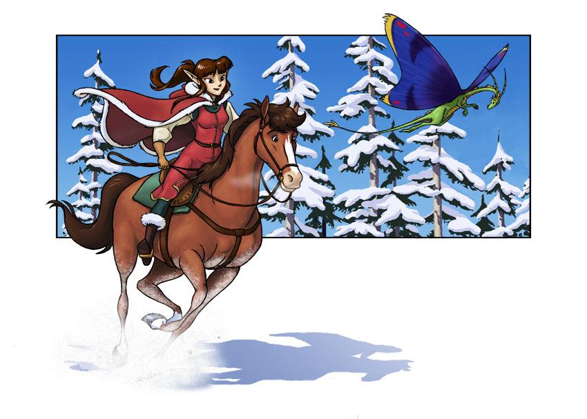 Dashing Through the Snow by Sankam