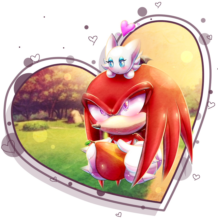 at_oo__knux_and_the_little_chao__oo_by_p