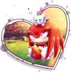 AT Oo. Knux and the little chao .oO