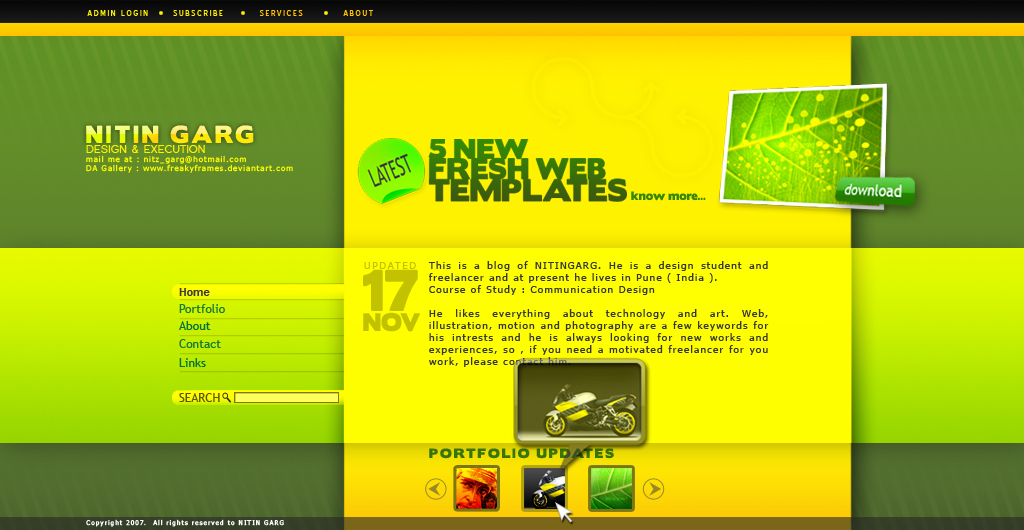 Blog Layout by freakyframes