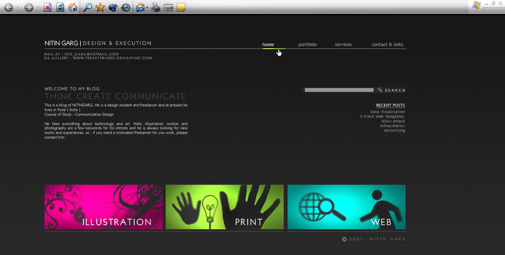 Another Blog Layout by freakyframes