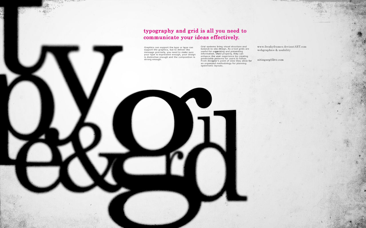 type and grid